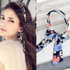 Tiea - Printed Bow Hair Band