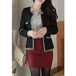 MyFiona - Appliqué Tweed Jacket
