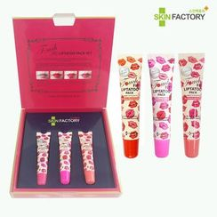 SKIN FACTORY - Touch Fit Lip Tatoo Pack Set : Jewelry Pink + Vita Fruits Peach+ Rose Cherry Scarlet