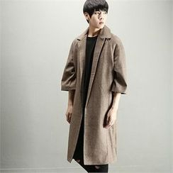 THE COVER - 3/4-Sleeve Open-Front Coat