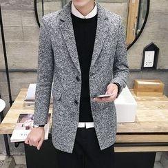 DUKESEDAN - Marled Wool Blend Coat