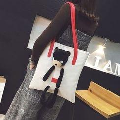 Secret Garden - Plush Bear Faux Leather Shopper Bag
