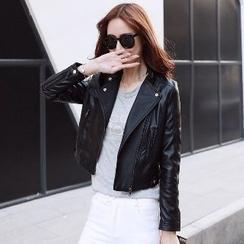 Romantica - Faux-Leather Biker Jacket