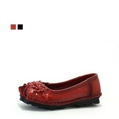 MODELSIS - Genuine Leather Appliqué Flats
