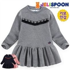 JELISPOON - Girls Frill-Hem Tassel-Trim Top