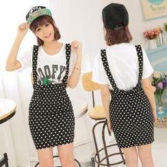 Fashion Street - Dotted Suspender Skirt