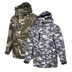 Seoul Homme - Hooded Camouflage Parka