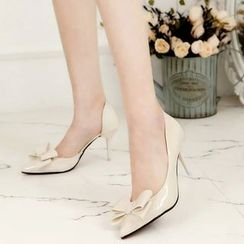Wello - Bow Pointy  Pumps
