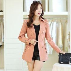 Romantica - Lace-Shoulder Trench Coat