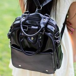 Sugar Plum - Faux Leather Backpack