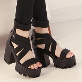 Mancienne - Platform Heel Sandals