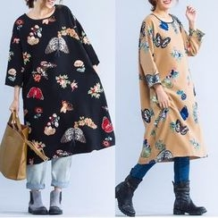 Epoch - Print Long-Sleeve Dress