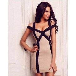 HOTCAKE - Strappy Bodycon Dress