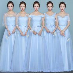 MSSBridal - Short/ Elbow Sleeve / Sleeveless Bridesmaid Dress