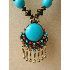 Trava - Gemstone Dangle Necklace