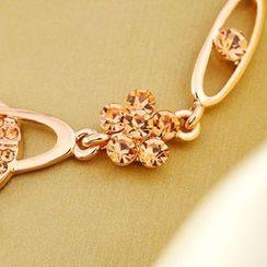 Trend Cool - Rhinestone Flower Bracelet