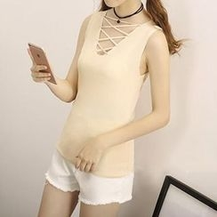 Honey House - Crisscross Front Tank Top