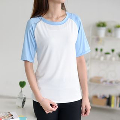 YOSH - Elbow-Sleeve Raglan T-Shirt