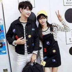 Azure - Couple Matching Applique Jacket / Jumper Skirt