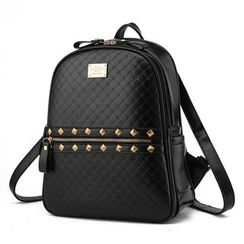 miim - Studded Faux Leather Backpack