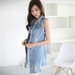 Mini Jule - Distressed Denim Vest