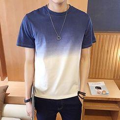 Telvi - Gradient Short-Sleeve T-Shirt