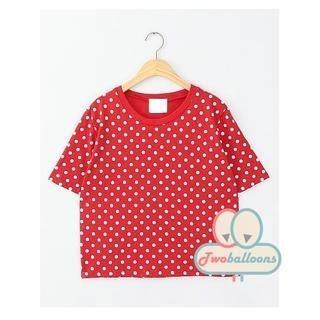 JVL - Short-Sleeve Polka Dot T-Shirt