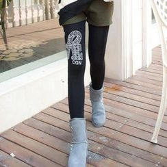 Ando Store - Printed Fleece-Lined Leggings