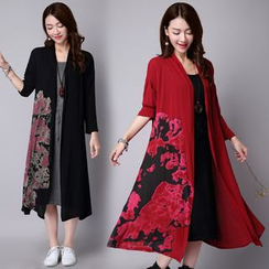 Splashmix - Printed Long Cardigan