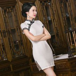 Bridal Workshop - Cap-Sleeve Embroidered Cheongsam