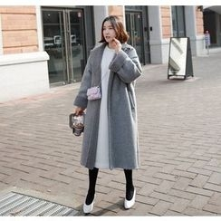 Miamasvin - Open-Front Fleece-Lined Coat