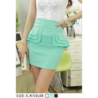 UUZONE - Flap-Side Miniskirt