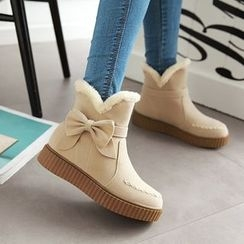 Pastel Pairs - Bow Accent Snow Boots