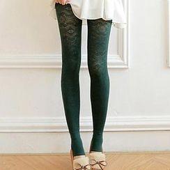 Good Living - Fleece-Lined Printed Leggings
