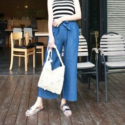 Dodostyle - Wide-Leg Jeans with Sash