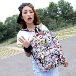 Seok - 印花帆布背包