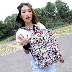 Seok - Print Canvas Backpack