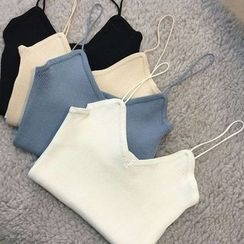 ANTEM - Knitted V-Neck Camisole Top