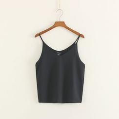 Mushi - Plain Chiffon Camisole Top