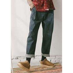 GOROKE - Fray-Hem Harem Jeans