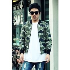 Ohkkage - Camouflage Zip-Up Jacket