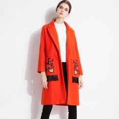 Halona - Fringed Pocket Coat