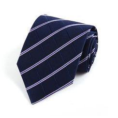 Xin Club - Striped Silk Neck Tie (8cm)