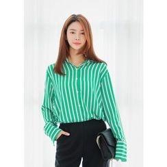 J-ANN - Plain Striped Shirt