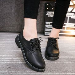 Wello - Faux Leather Oxfords