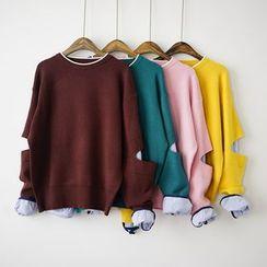 Polaris - 镂空假两件毛衣
