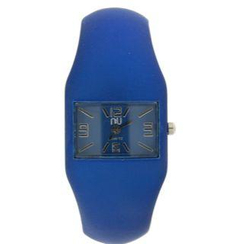 N:U - Not the Usual - Rubber-Effect Cuff Wrist Watch