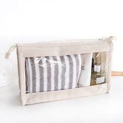 聚可爱 - 麻布棉质化妆包