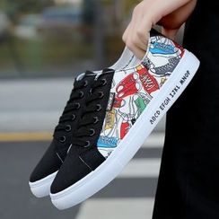 Bay Go Mall - Printed Canvas Sneakers