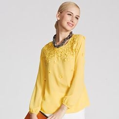 O.SA - Long-Sleeve Rosette Top